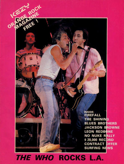 The Who - USA - Kezy - August, 1980
