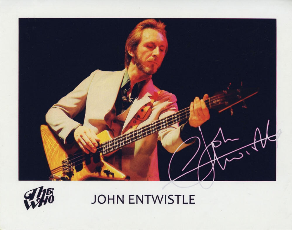 The Who - John Entwistle - 1981 UK Press Kit