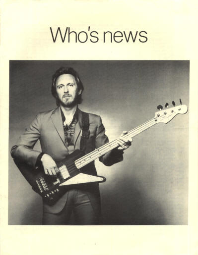 The Who - USA - Who's News - October, 1981