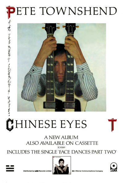 Pete Townshend - All The Best Cowboys Have Chinese Eyes - 1982 UK (Promo)