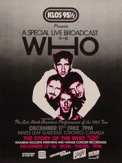 The Who - KLOS 12/17/82 - 1982 USA (Promo)