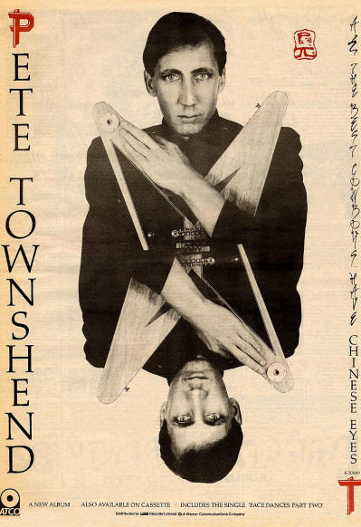 Pete Townshend - All The Best Cowboys Have Chinese Eyes - 1982 UK