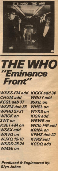 The Who - Eminence Front - 1982 USA