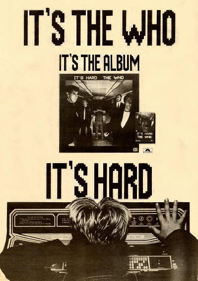 The Who - It's Hard - 1982 UK
