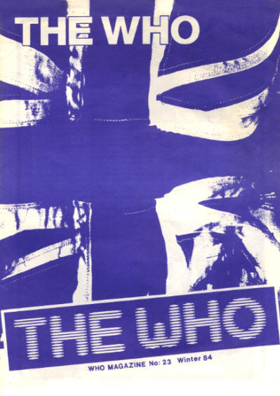 The Who - UK - The Who Magazine #23 - Winter, 1984