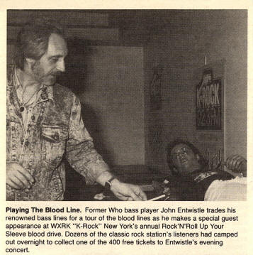 John Entwistle - Give Blood Concert - 11/08/87
