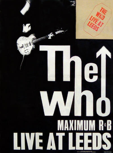 The Who - Live At Leeds - 1987 Germany (front) - Fold out poster of insert included in 1987 Polydor CD