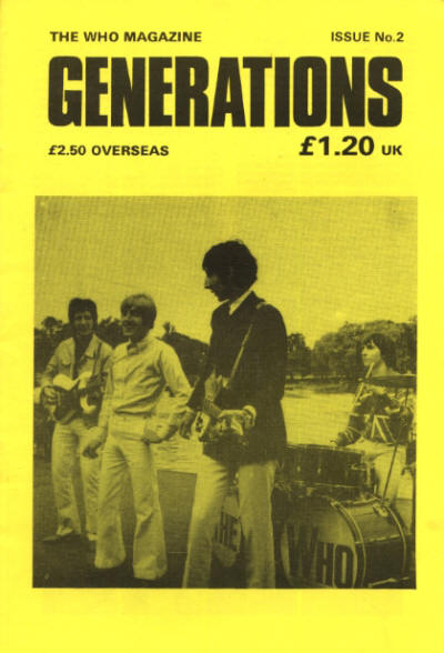 The Who - UK - Generations 2 - June, 1989