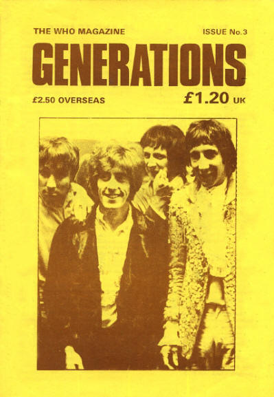 The Who - UK - Generations 3 - December, 1989