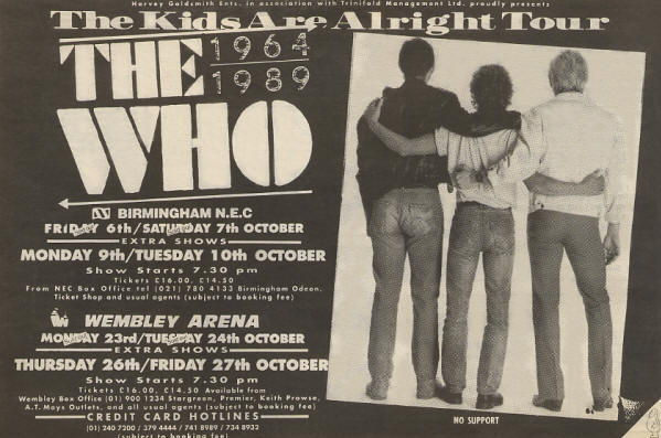 The Who - The Kids Are Alright Tour - 1989 UK