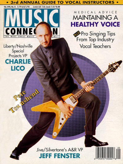 Pete Townshend - USA - Music Connection - July 19, 1993