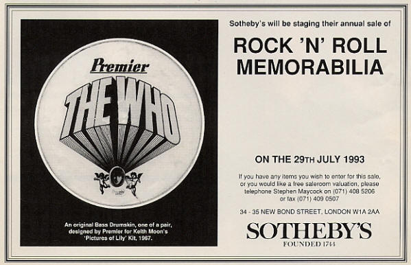 The Who - Sotheby's - 1993 UK