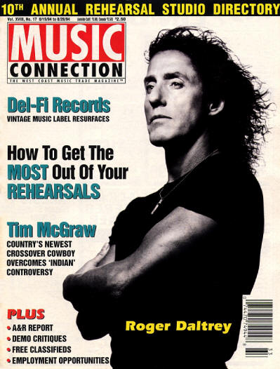 Roger Daltrey - USA - Music Connection - August 15, 1994