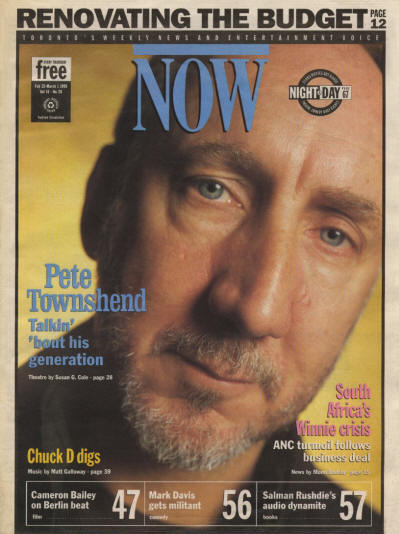 Pete Townshend - Canada - Now - February 23, 1995