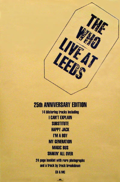 The Who - Live At Leeds - 1995 UK (Promo)