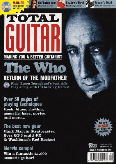The Who - UK - Total Guitar - December, 1996