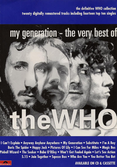 The Who - My Generation: The Very Best Of The Who - 1996 UK