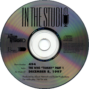 In The Studio: The Who Tommy - 1997 USA