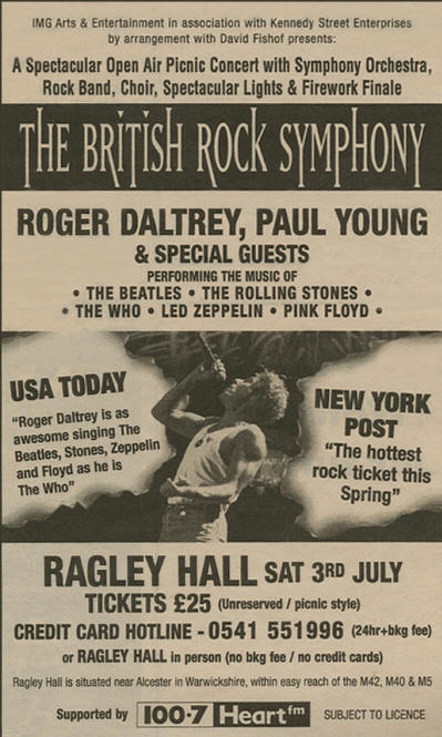 Roger Daltrey - British Rock Symphony - July 3, 1999 UK