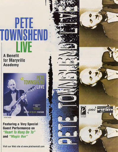 Pete Townshend Live - 1999 USA