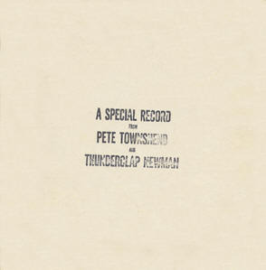 A Special Record From Pete Townshend And Thunderclap Newman