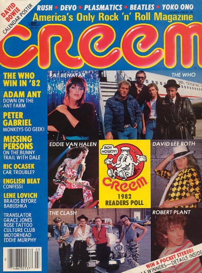 The Who - USA - Creem - March, 1983