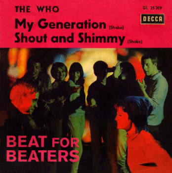 The Who - My Generation/Shout & Shimmy - 1965 Germany 45 (Pink Banner Version)