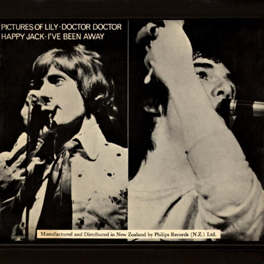 The Who - Pictures Of Lily - 1967 New Zealand 45 (EP) [Back Cover]