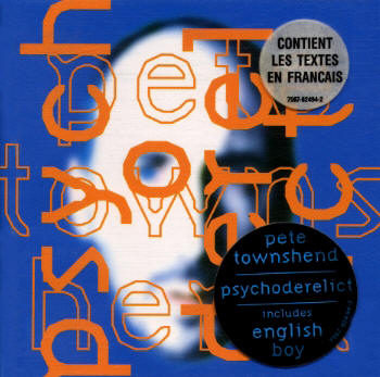 Pete Townshend - Psychoderelict - 1993 France CD