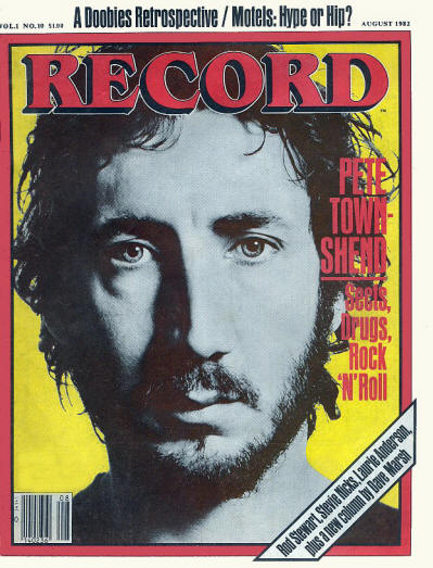 Pete Townshend - USA - Record - August, 1982