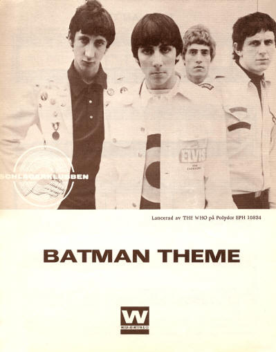 The Who - Sweden - Batman - 1966