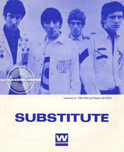 The Who - Sweden - Substitute - 1966