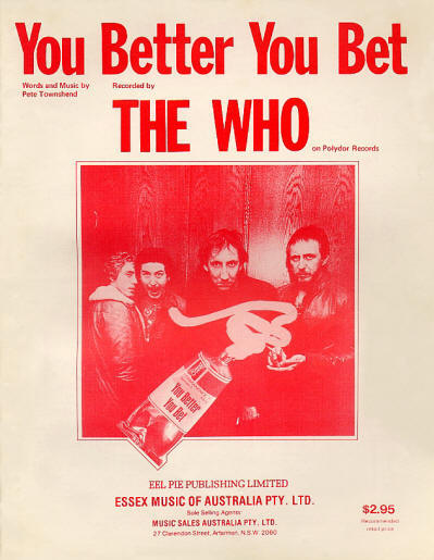 The Who - Australia - You Better You Bet - 1981